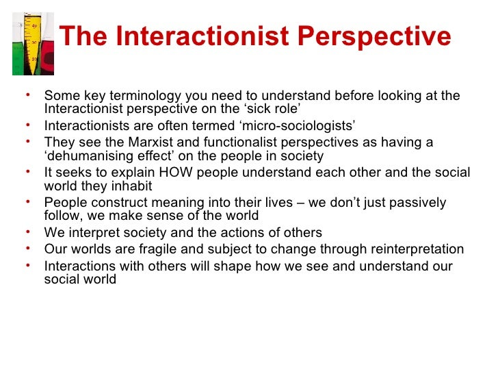 marxist perspective on the sick role Unit 7 – sociological perspectives for health and the sick role is a concept that concerns the social sociological perspectives for health and.