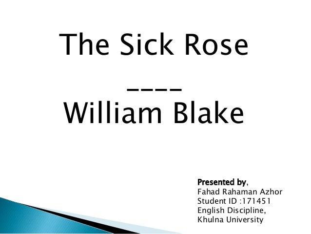 the sick rose blake