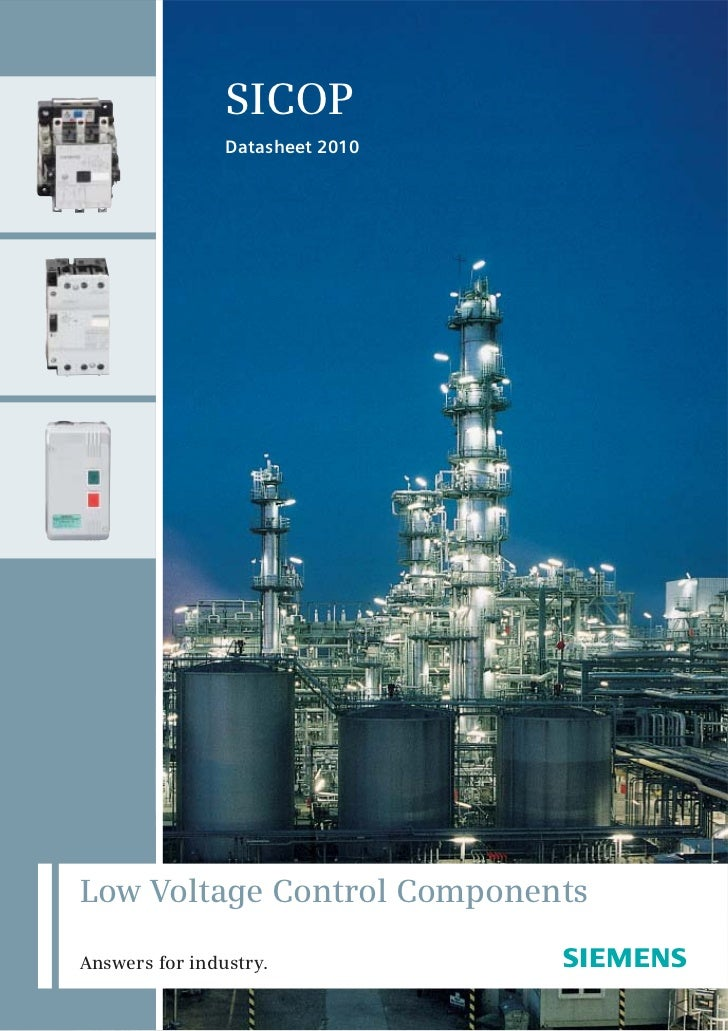 SICOP                Datasheet 2010Low Voltage Control ComponentsAnswers for industry.            s                       ...
