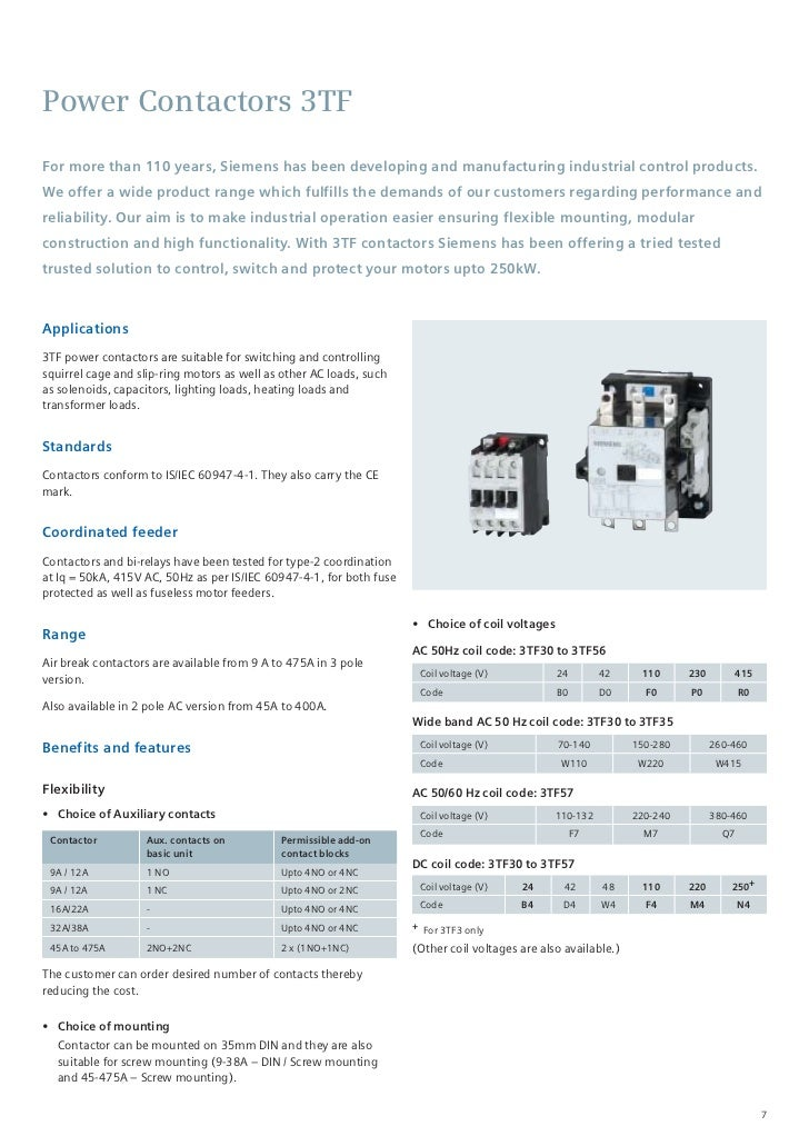 Sicop datasheet 6 7 power contactors asfbconference2016 Choice Image