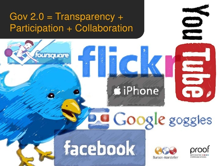 Gov 2.0 = Transparency + Participation + Collaboration<br /> <br />