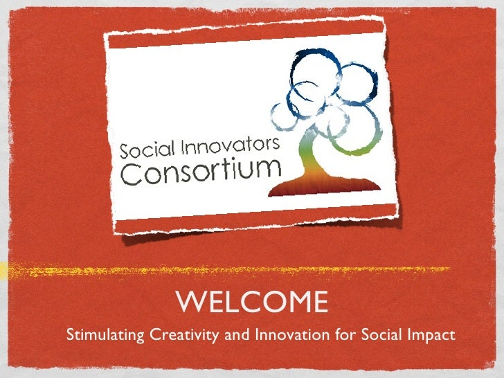 WELCOME Stimulating Creativity and Innovation for Social Impact