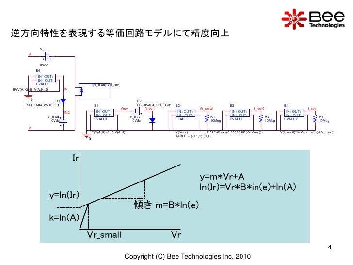 逆方向特性を表現する等価回路モデルにて精度向上                 V_I          A                   0Vdc               E6                IN+ OUT+    ...