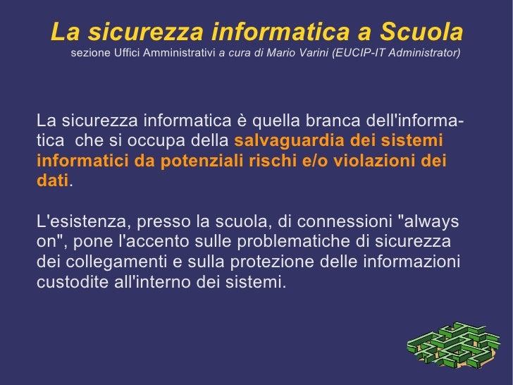 Sicurezza Informatica Slide 2