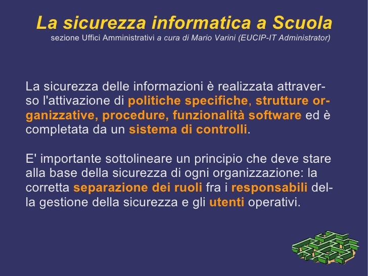 Sicurezza Informatica Slide 3