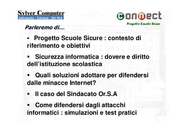 Sicurezza informatica nelle Scuole Slide 2