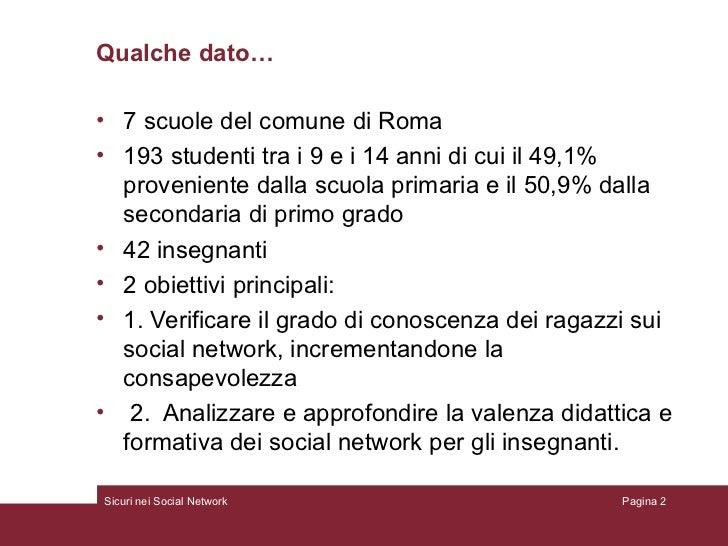 Sicuri nei socialnetwork Slide 2