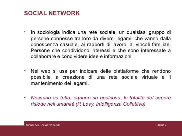 Sicuri nei socialnetwork Slide 3
