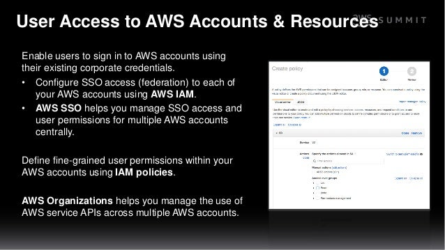 SID201 Overview of AWS Identity, Directory, and Access Services