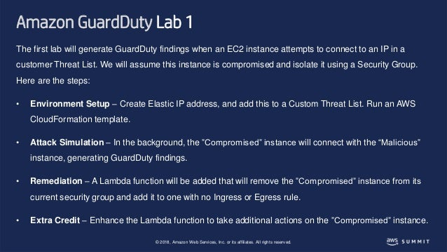 SID304 Threat Detection and Remediation with Amazon GuardDuty