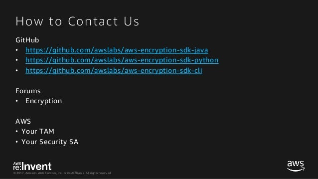 SID345-AWS Encryption SDK The Busy Engineer's Guide to Client-Side En…