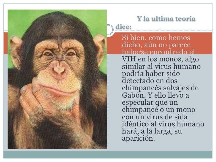 Y la ultima teoría dice:<br />Si bien, como hemos dicho, aún no parece haberse encontrado el VIH en los monos, algo simila...