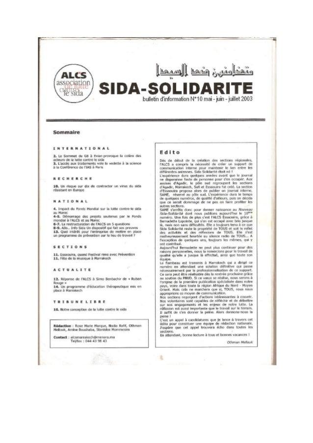 Sida Solidarité Magazine N°10