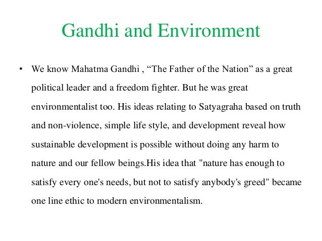 ideas of gandhiji