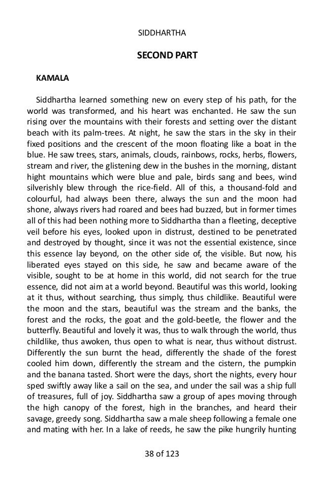 siddhartha essays kamala