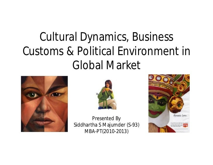 Cultural Dynamics, BusinessCustoms & Political Environment in          Global Market                  Presented By        ...