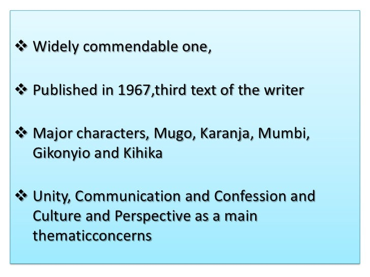 summary of a grain of wheat by ngugi