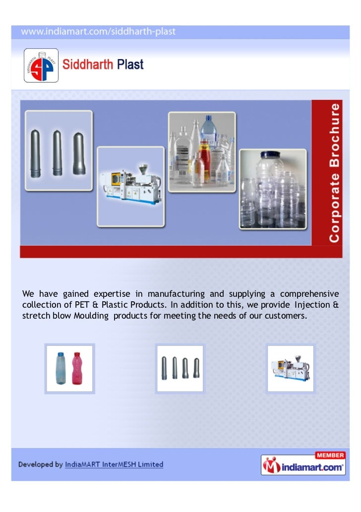 We have gained expertise in manufacturing and supplying a comprehensivecollection of PET & Plastic Products. In addition t...