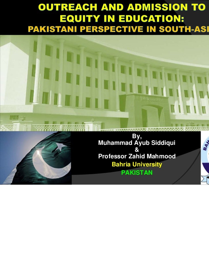 By,Muhammad Ayub Siddiqui            &Professor Zahid Mahmood    Bahria University       PAKISTAN                          1