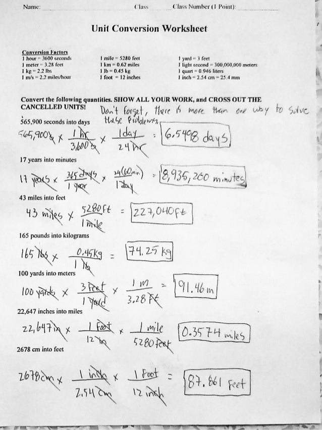 Printables Unit Conversion Worksheet Chemistry collection of unit conversions worksheet answers bloggakuten math in chemistry metric system 1 matter