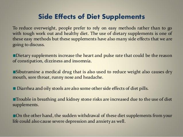 diet pills side effects dangers