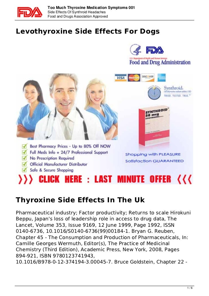 Too Much Thyroxine Medication Symptoms 001            Side Effects Of Synthroid Headaches            Food and Drugs Associ...