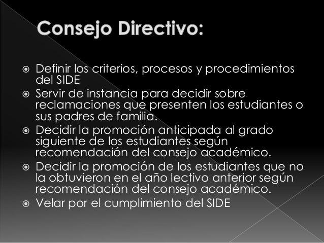  Docente asignatura   Director de curso   Comisión de evaluación de sede y  jornada respectiva   Consejo directivo