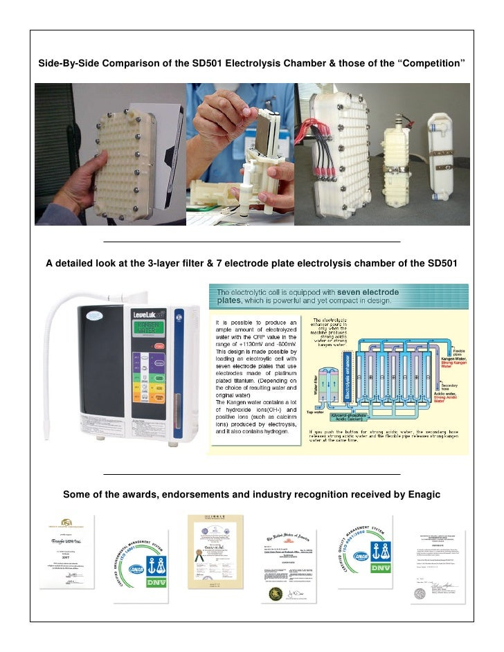 """Side-By-Side Comparison of the SD501 Electrolysis Chamber & those of the """"Competition""""      A detailed look at the 3-layer..."""