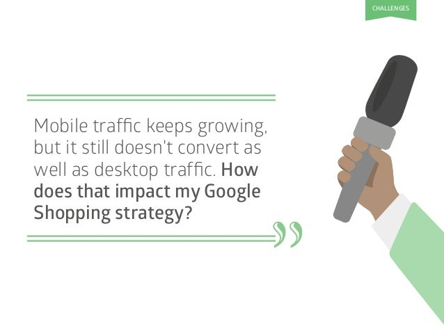 Mobile traffic keeps growing, but it still doesn't convert as well as desktop traffic. How does that impact my Google Shoppi...