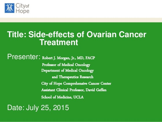 Breakout Side Effects Of Cancer Treatment Robert Morgan Md