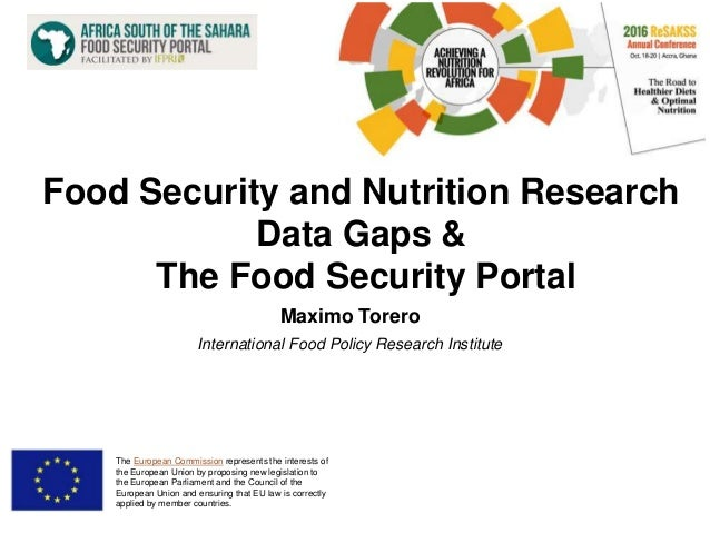 Food Security and Nutrition Research Data Gaps & The Food Security …
