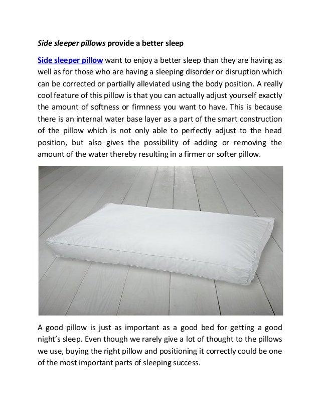 Side Sleeper Pillows Provide A Better Sleep