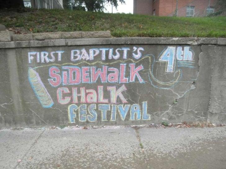 Sidewalk chalk festival 2011