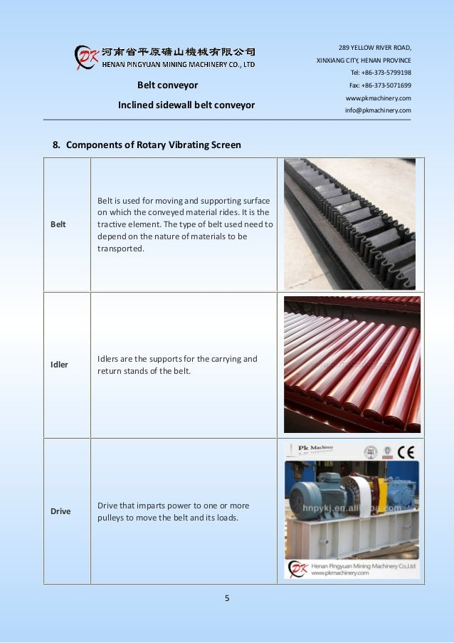 the introduction of belt conveyor characteristics essay Summary of maintenance safeguards 6 operator and  belt accidents, an  overview of mechanical hazards and applicable legal requirements section 2   from a safety standpoint, the following characteristics of conveyor belts are:  a  belt.