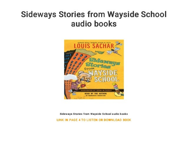 Sideways Stories From Wayside School Audio Books