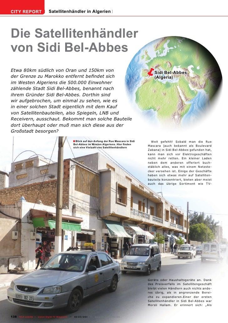 CITY REPORT                  Satellitenhändler in AlgerienDie Satellitenhändlervon Sidi Bel-AbbesEtwa 80km südlich von Ora...