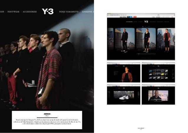 adidas                                               - Y-3 -    Pour la marque de designer Y Sid Lee a lancé un carnet de ...
