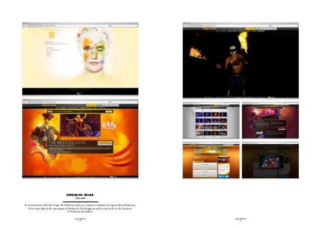 Cirque du soleil                                            - Site web -Le nouveau site web du Cirque du Soleil est riche ...