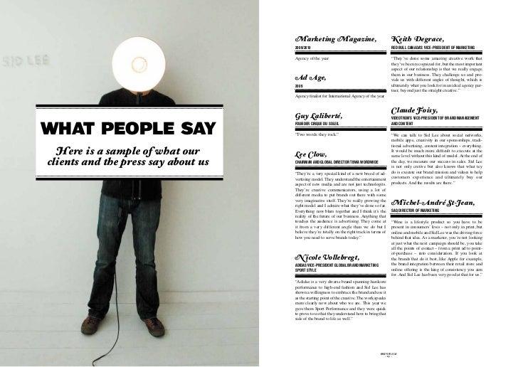 Marketing Magazine,                                         Keith Degrace,                                     2009/2010  ...