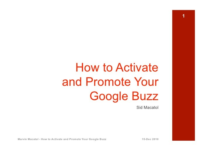 1                                How to Activate                              and Promote Your                            ...