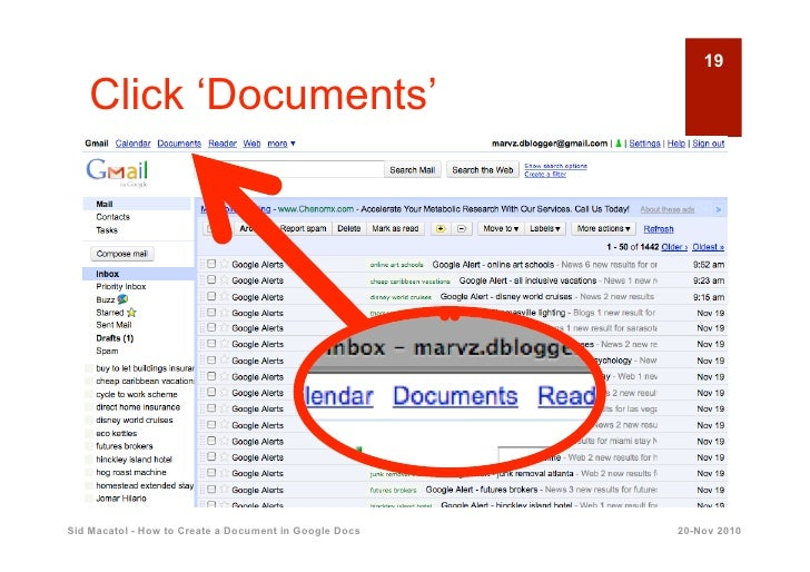 how to create slides in google docs