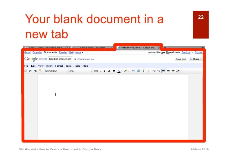how to make a document in google docs