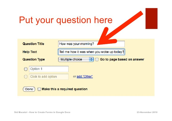 how to create in google form