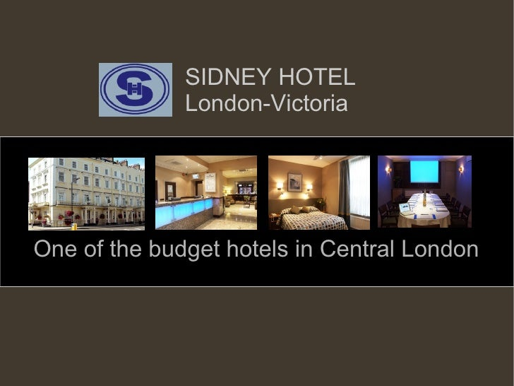 SIDNEY HOTEL London-Victoria One of the budget hotels in Central London