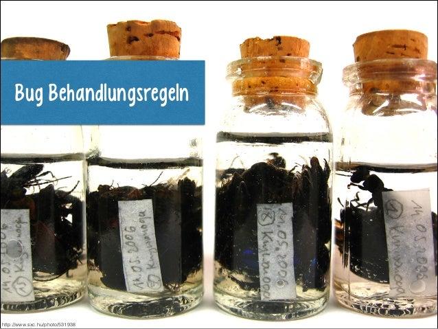 Bug Behandlungsregeln  http://www.sxc.hu/photo/531938