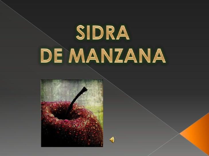 SIDRA <br />DE MANZANA<br />