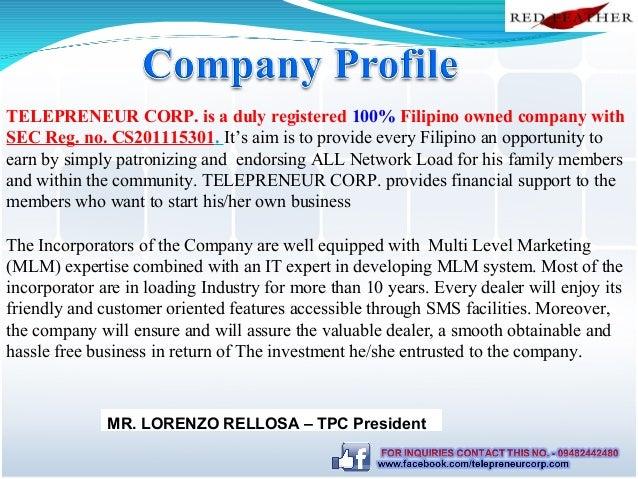 Telepreneur Corp Slide Presentation