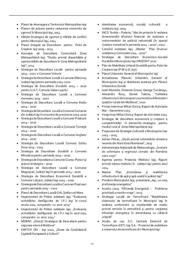 16  Planul de Amenajare a Teritoriului Metropolitan Iaşi  Planuri de acţiune pentru reducerea nivelurilor de zgomot în M...