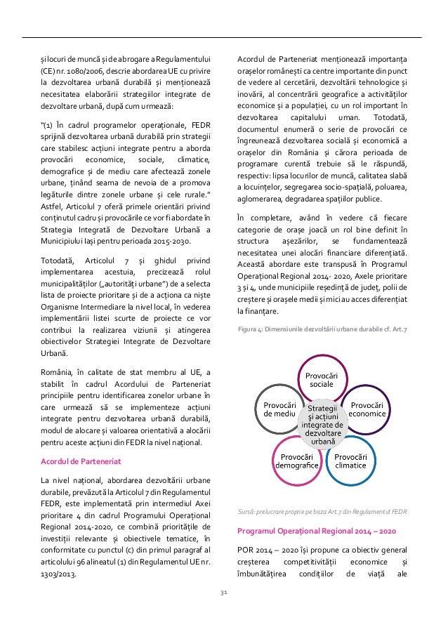 31 șilocuri de muncă și de abrogare a Regulamentului (CE)nr. 1080/2006,descrieabordareaUE cuprivire la dezvoltarea urbană ...