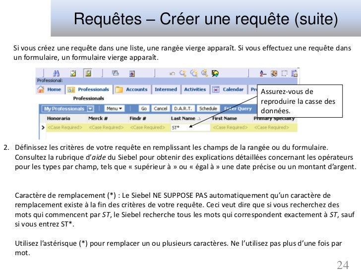 Requêtes – Créer une requête (suite)   Si vous créez une requête dans une liste, une rangée vierge apparaît. Si vous effec...